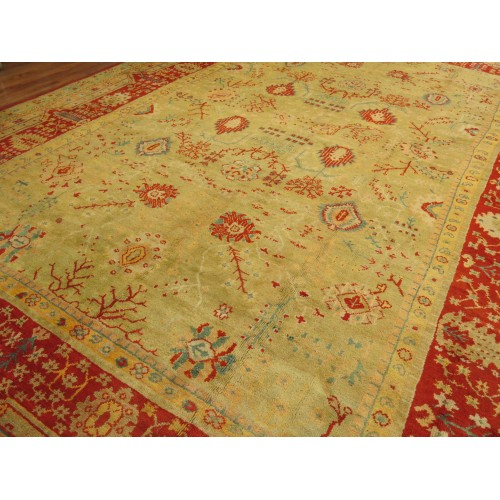 Large Antique Oushak Rug
